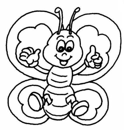 Dibujos Infantiles De Mariposas Para Colorear