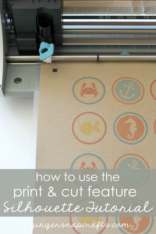 how to use the print & cut feature Silhouette Tutorial at GingerSnapCrafts.com