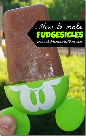 Homemade Fudgesicles with only 3 ingredients from 123 Homeschool 4 Me