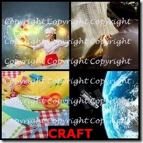 CRAFT- 4 Pics 1 Word Answers 3 Letters
