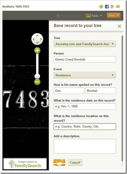 指定树,人员和事件信息。