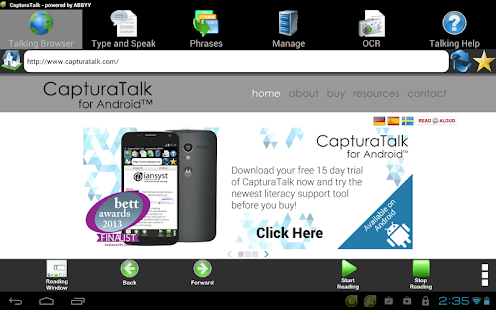 CapturaTalk for Android™ Trial