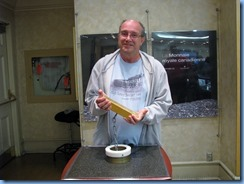 6343 Ottawa  Sussex Dr - Royal Canadian Mint tour - Bill holding gold bar weighing approx 28 lbs