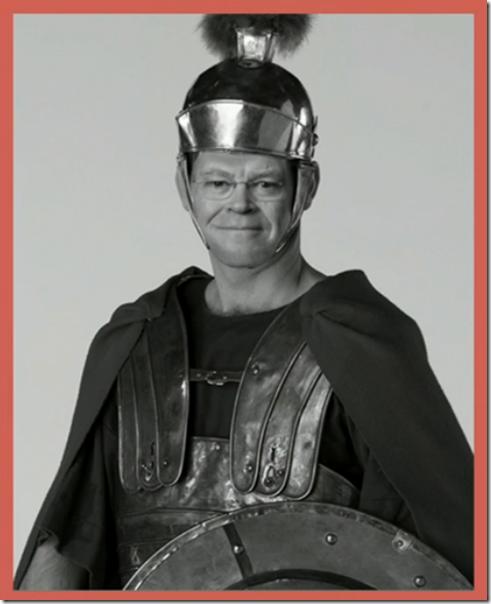 丹尼斯布里姆尔访问了一个发现中心,只是为了娱乐,像罗马士兵一样着手