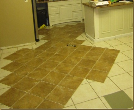 "How I ""Tiled"" My Floors on the Cheap-Trafficmaster Ceramica Tiles"