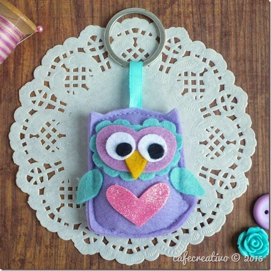 cafecreativo - gufo portachiavi - feltro - owl key ring - tutorial - big shot sizzix (1)