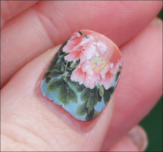 Flowers Blossoms Nail Art Nageldesign Water Decals Blumen Glitzer 02