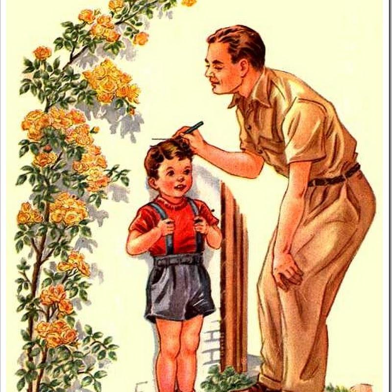 Día del padre, postales antiguas vintage