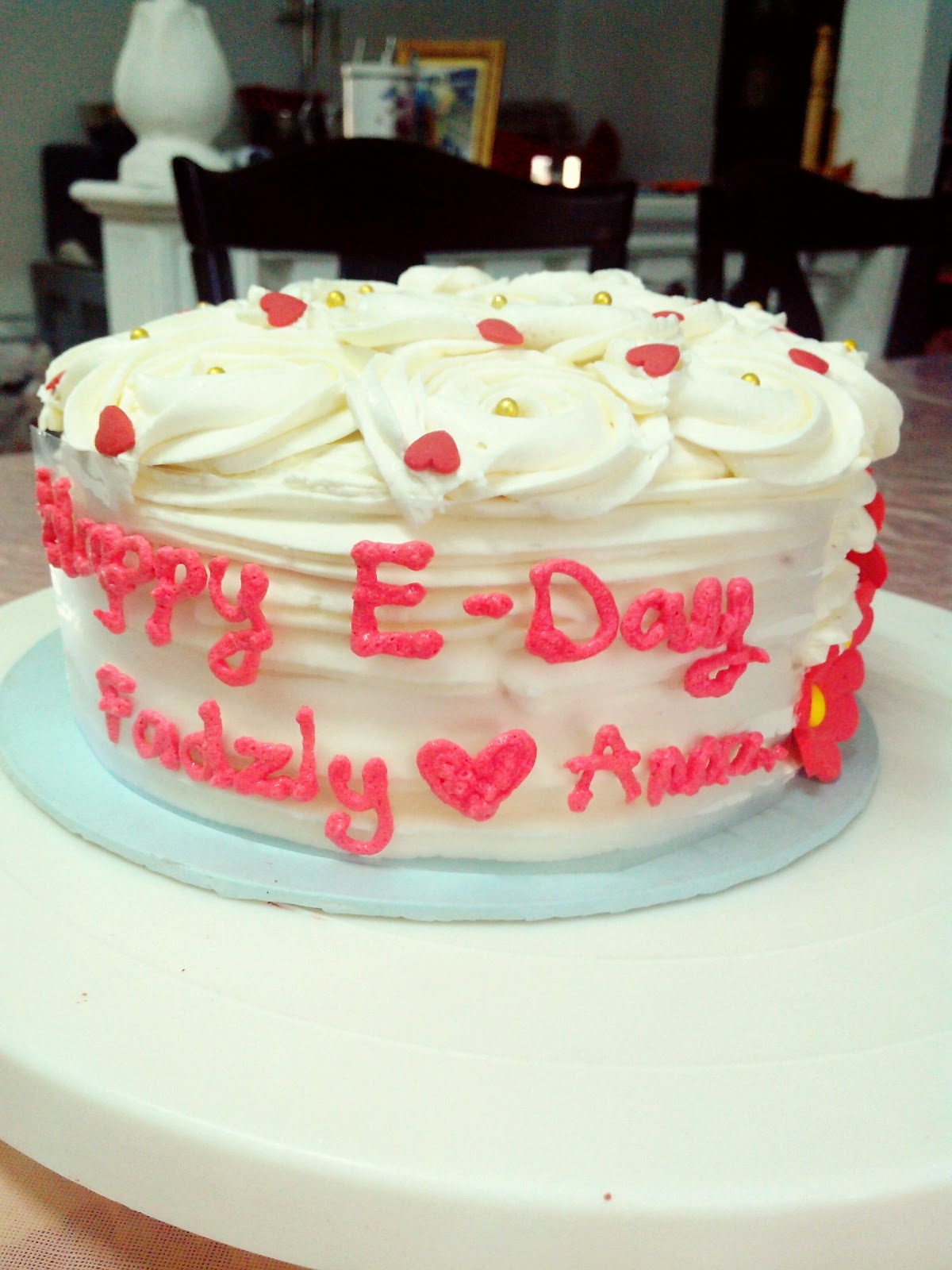 Red Velvet Cake For E Day Kek Red Velvet Bertunang Kek