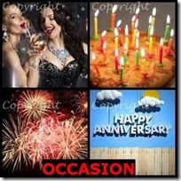 OCCASION- 4 Pics 1 Word Answers 3 Letters