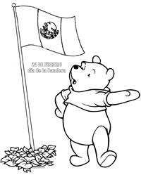 Colorear 24 Febrero Bandera Con Winnie The Pooh