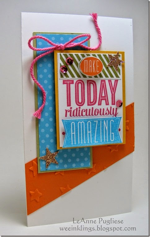 LeAnne Pugliese WeeInklings Amazing Birthday Stampin Up