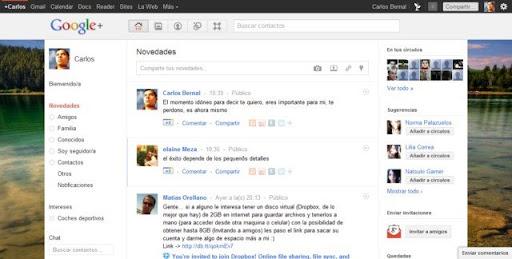 Cambiar el fondo de Google Plus