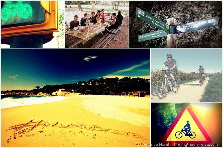 Bike ride collage