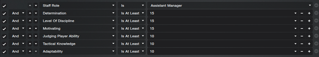 Assistant Manager Filter FM2014