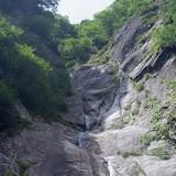 曇りの滝3段120m