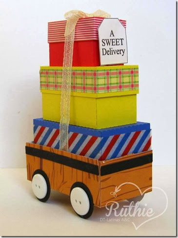 Red Box Wagon - The Cutting Cafe - Nueva Aventura -  Latinas Arts and Crafts - Ruthie Lopez DT 2