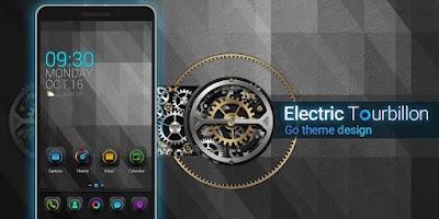 Screenshot of Electric Tourbillon GO Theme