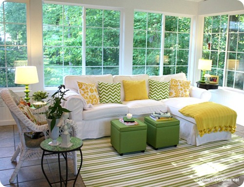 big windows sunroom