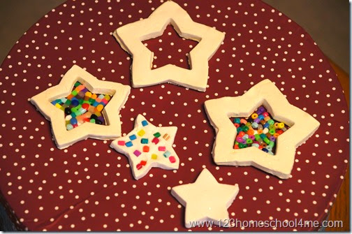 star white clay christmas ornaments for kids
