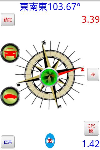 指北針+指南針+水平儀+複合式數位羅盤+車窗HUD反向羅盤