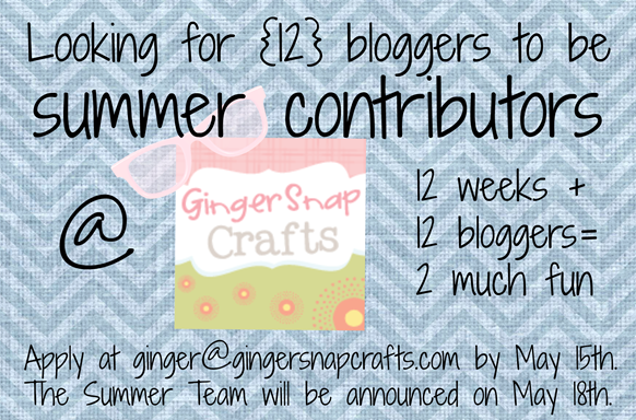 summer contributors at GingerSnapCrafts.com