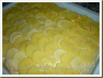 Pizza bianca con patate e mozzarella (6)