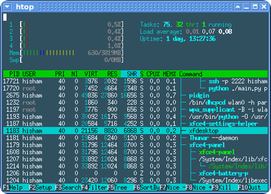 htop-1.0-screenshot