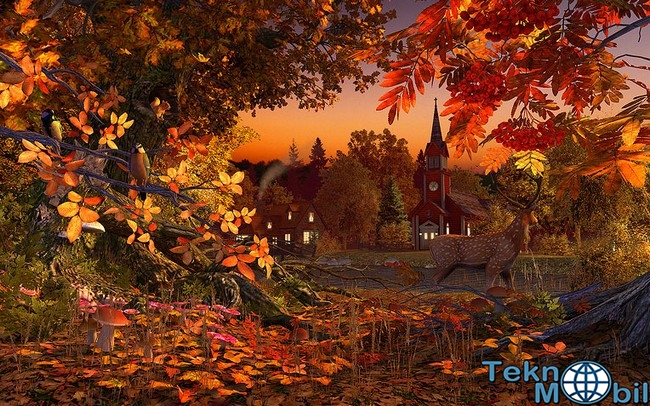 Autumn Wonderland 3D Screensaver Full