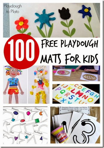 100 FREE playdough mats #preschool #playdough #kindergarten
