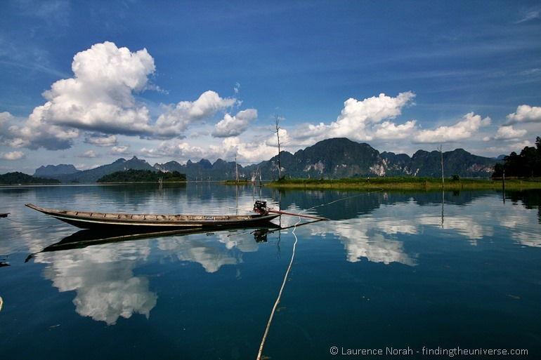 Long tail boat Khao Sok lakehouse