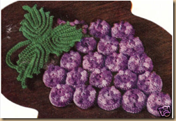 crochet 3D grapes
