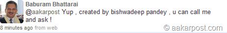 baburam bhattarai-tweet-bishow