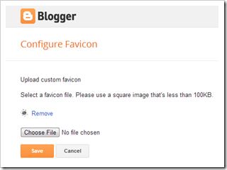 upload blogger favicon