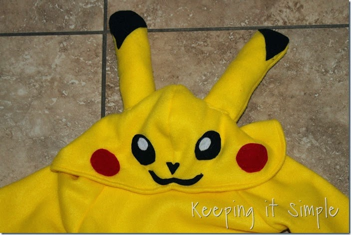 DIY Pokemon Pikachu Costume (2)