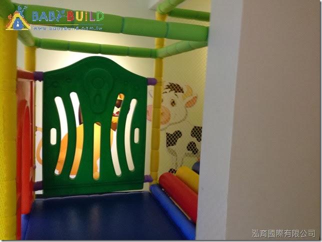親子餐廳室內3D泡管完工照