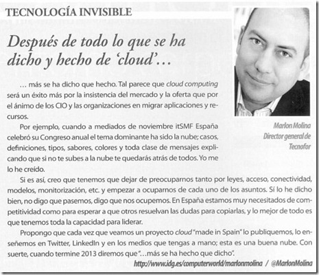Tecnología invisible -  Computerworld