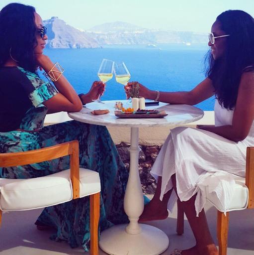 PHOTOS: Sylvia Nduka And Ene Maya's Vacation in Santorini Greece 10