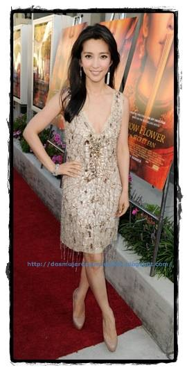 Li Bing Bing in Roberto Cavalli at the premiere of 'Snow Flower and the Secret Fan' in LA