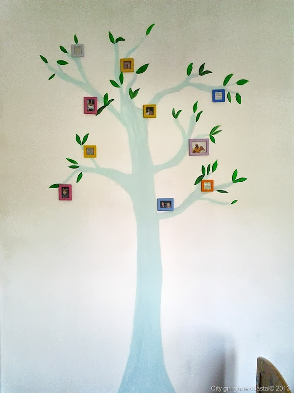 PAINTED PICTURE FRAMES ADDED TO TREE