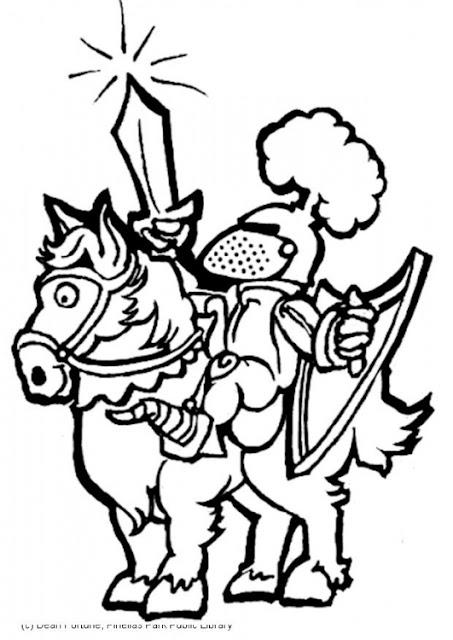 Dibujos De Caballeros Medievales Para Colorear