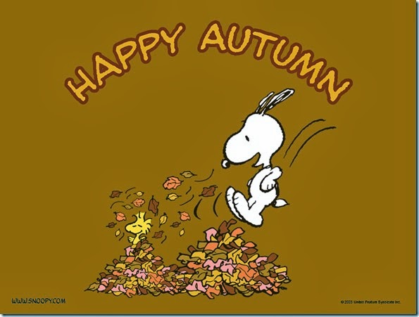 Snoopy-happy- otoño