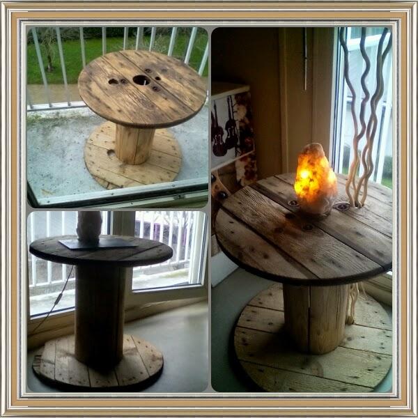 astuces deco embellir touret en bois. Black Bedroom Furniture Sets. Home Design Ideas