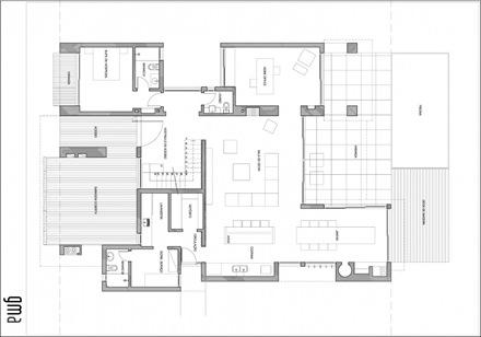 Plano Casa Moderna Con Piscina Casa Ckn Arquitexs - Plano-casas-modernas
