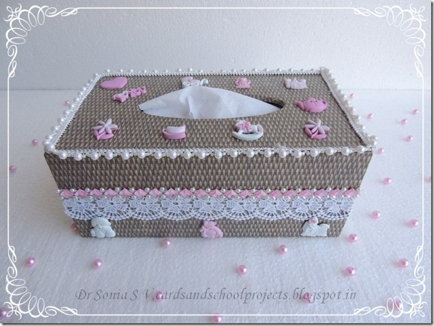 Tissue box decoupage  11