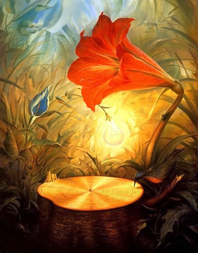 music_of_the_woods-Vladimir_Kush-1