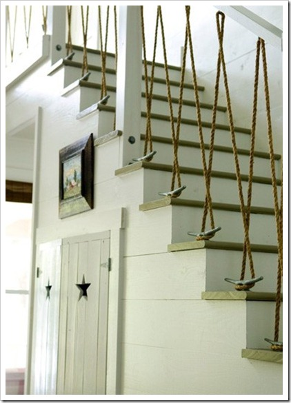rope and cleat stair