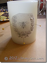 pin tissue image to candle