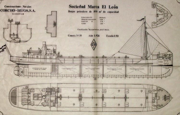 Planos del buque EL LEON. Archivo del Astillero del Atlantico. Universidad de Cantabria.jpg