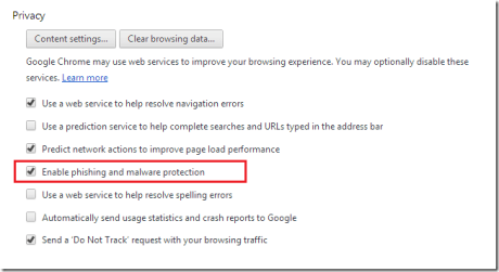 chrome malware protection